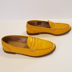 J.Crew   Ryan Penny loafers yellow leather